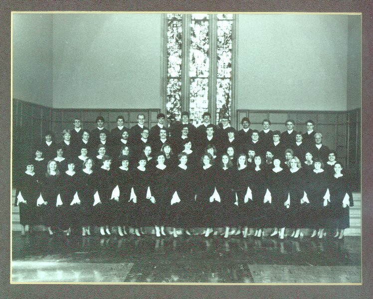 St Olaf Choir 1983 with Craig LiaBraaten, Section Leader, Rehearsal Conductor, Piano Solist, Vocal Soloist, Craig LiaBraaten